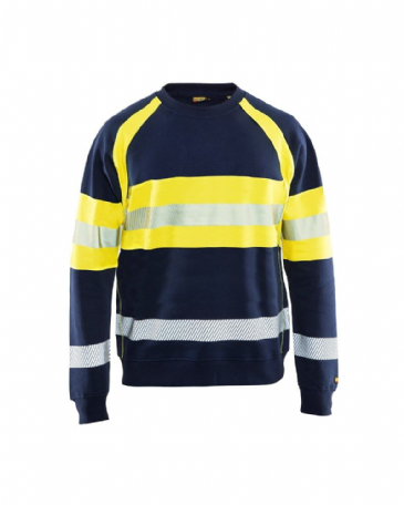Blaklader 3459 Multinorm Sweatshirt (Navy Blue/Yellow)